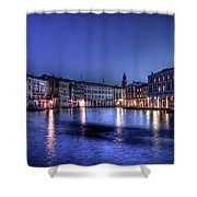 Venice By Night Shower Curtain