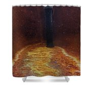 Vichy Springs Carbonated Hot Springs Shower Curtain