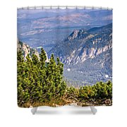 View Of Tatra Mountains From Hiking Trail. Poland. Europe. Shower Curtain