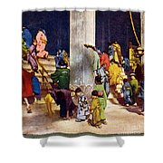 Vintage Japanese Art Shower Curtain