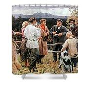 Vladimir Lenin (1870-1924) Shower Curtain