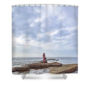 Walking Into The Sea Shower Curtain