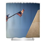 Washington Dc Memorial Tower Monument At Sunset  Shower Curtain