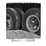 4 Wheels And Sand Shower Curtain
