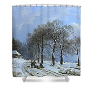 Winterlandschap Shower Curtain