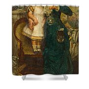 Woman With Child And Goldfish Shower Curtain