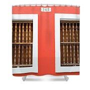 Wooden Door In Old San Juan, Puerto Rico Shower Curtain