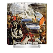 World War I: French Poster Shower Curtain by Granger