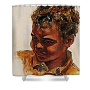 4-year-old Talented Drummer Shower Curtain