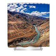 Zanskar River Ladakh Jammu And Kashmir India Shower Curtain