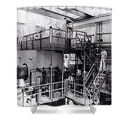 40 Inch Liquid Hydrogen Bubble Chamber Shower Curtain