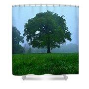 Work Landscape Shower Curtain