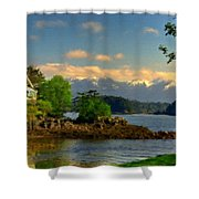 B Y Landscape Shower Curtain