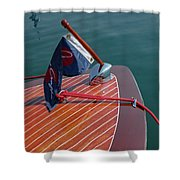 Classic Chris Craft Shower Curtain