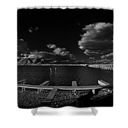 41 South And The Longbridge Shower Curtain