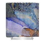 42. Blue Purple Black Glaze Painting Shower Curtain