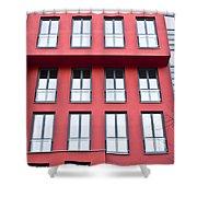 Modern Building Shower Curtain