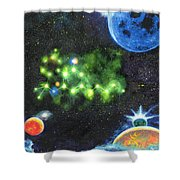 420 Space Shower Curtain