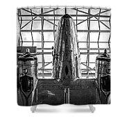 4242- Airplane Shower Curtain