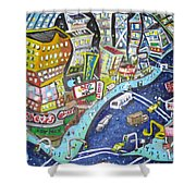 42nd And 8th Street Shower Curtain