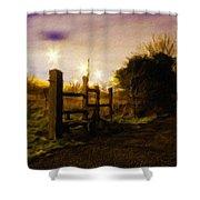 E-landscape Shower Curtain