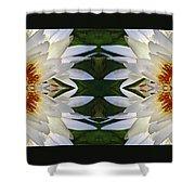 White Lotus Mandala Shower Curtain