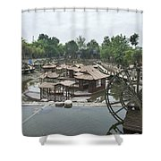 4359- Water Wheel Shower Curtain