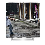 4369- Taffy Puller Shower Curtain
