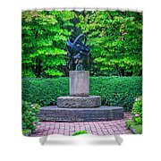 4387- Sculpture Shower Curtain