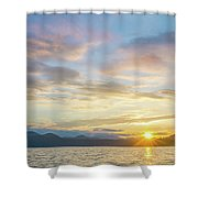 Beautiful Landscape Scenes At Lake Jocassee South Carolina Shower Curtain