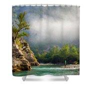 Landscape Luminous Shower Curtain