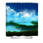 Landscape Oil Painting On Canvas Shower Curtain