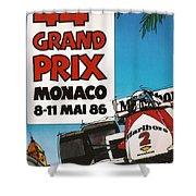44th Monaco Grand Prix 1986 Shower Curtain