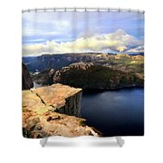 Oil Paintings Landscapes Shower Curtain
