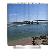 Sebastian Inlet State Park In Florida Shower Curtain