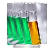 Test Tubes In Science Research Lab Shower Curtain