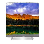 W Landscape Mn Shower Curtain