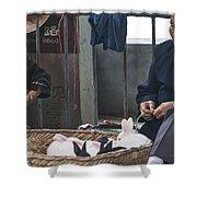 4564- Rabbit Vender Shower Curtain