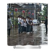 4585- Workers Shower Curtain