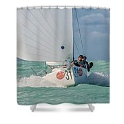Center Of Attention Shower Curtain
