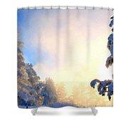 Landscape Modern Shower Curtain