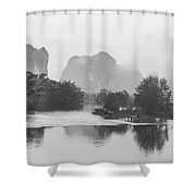 Yulong River Scenery Shower Curtain