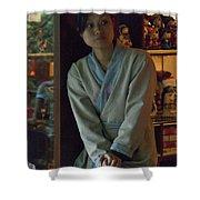 4625- Shop Girl Shower Curtain