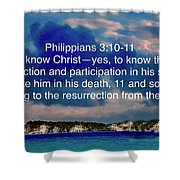 Bible Verse  Shower Curtain