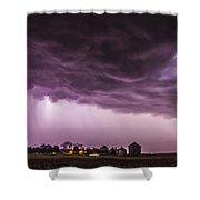 First Nebraska Storm Chase 2015 Shower Curtain