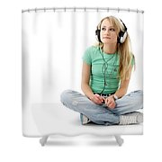 Headphones Shower Curtain