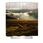 J H Landscape Shower Curtain