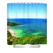 Landscape Lighting Shower Curtain