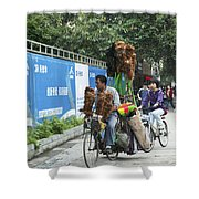 4714- Bicycle Vender Shower Curtain