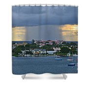 48 Nuclear Storm Shower Curtain